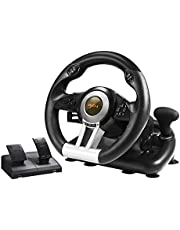 PC Racing Wheel, PXN V3II 180 Degree Universal Usb Car Sim Race Steering Wheel with Pedals for PS3, PS4, Xbox One, Xbox Series X/S,Nintendo Switch