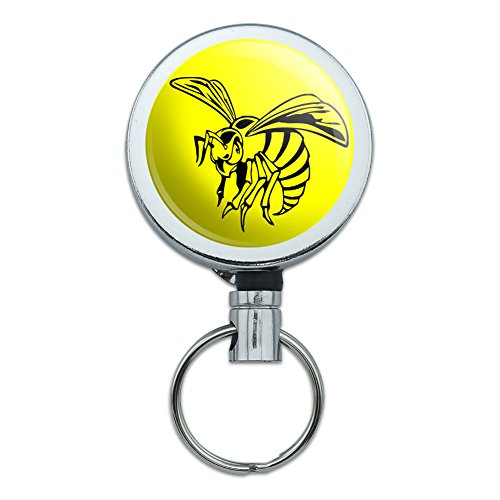 retractable-reel-belt-clip-id-badge-key-holder-insects-ladybug-butterfly-dragonfly-bee-wasp-hornet