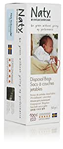 Naty Biodegradable Diapers Disposal Bags, 750 Count