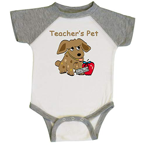 inktastic Teacher's Pet Infant Creeper 6 Months White and Heather