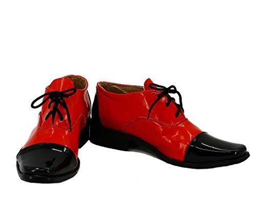 十代の若者たち軌道不合格ブラックバトラー黒執事Grell Sutcliffコスプレ靴ブーツカスタムMade