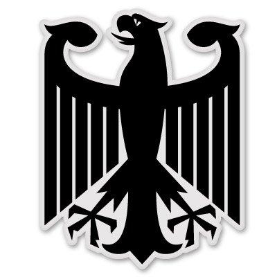 German Eagle - German Eagle Black Vinyl Sticker - Car Phone Helmet - SELECT SIZE