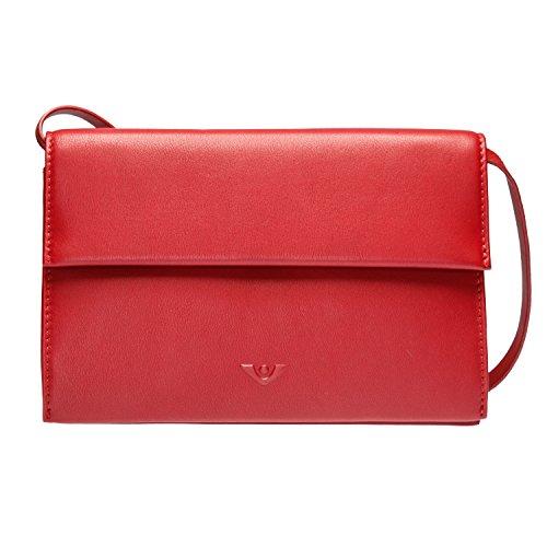 VOi Clutch 20649 Abendtasche kleine Tasche Überschlagtasche feinstes Glattleder Blau granat GwT17HPW