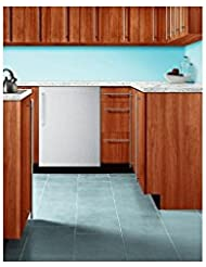 Summit BI605BCSS 24 UL Listed Undercounter Refrigerator with 6.1 cu. ft. Capacity 3 Wire Shelves Manual Defrost Interior Light and Adjustable Thermostat: Stainless