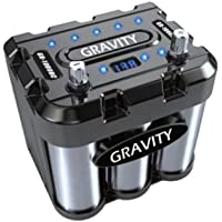 Gravity Audio 1000A Car Battery Capacitor WITH LED & Black Chrome GR-1000BC