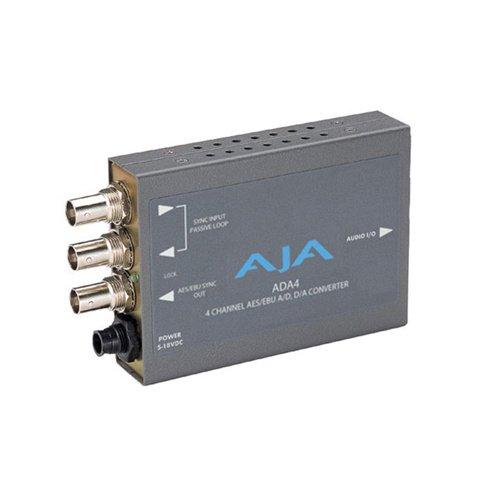 AJA ADA4 4-Channel Bi-Directional Audio A/D & D/A Converter (A D D A Converter)