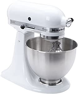 KitchenAid Classic K45SSWH 250-Watt 4-1/2-Quart Tilt-Head Stand Mixer, White