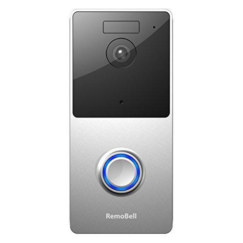 RemoBell WiFi Wireless Video Doorbell (Battery Powered, Night Vision, 2-Way Audio, HD Video, Motion Sensor, Door Camera)