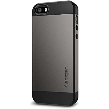Spigen Slim Armor iPhone SE Case with Air Cushion Technology and Hybrid Drop Protection for iPhone SE / 5S / 5 - Gunmetal