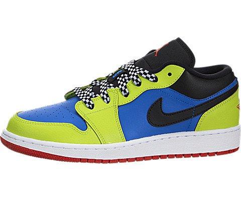 Boy's Nike 'Air Jordan 1 Low' Sneaker, Size 7 M - Blue
