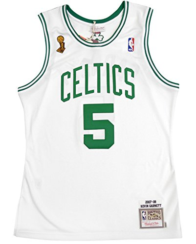 Mitchell & Ness Kevin Garnett 2007-08 Boston Celtics Authentic Finals Jersey White (48/XL)