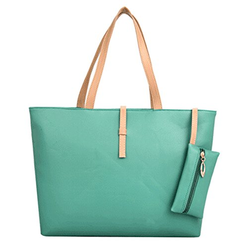 Handbag Sanwood® Shoulder Faux Sanwood® Bag Leather Women's Light Green Shoulder Bag Women's zqzS6Uwx
