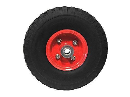 10'' Hand Truck Tire Utility Wheel and Tire 3.00-4 (Flat Free Design) by EZ Travel Collection