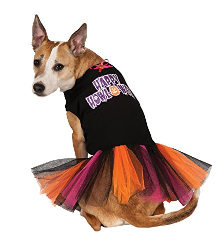 Pitbull Halloween Costumes (Rubies Costume Company Happy Howloween Tutu Dress Pet Costume, X-Large)