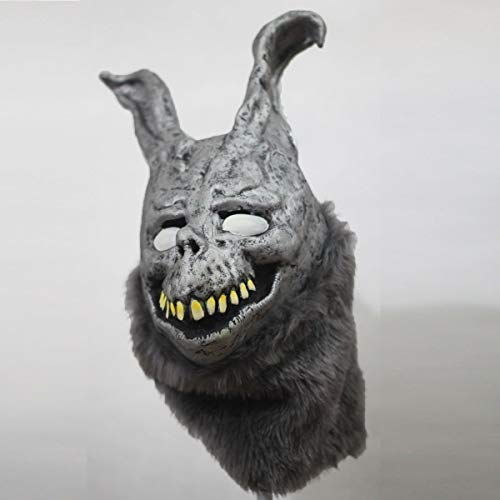 Scary Rabbit Costumes (Donnie Darko Frank the Bunny Mask Latex Overhead with Fur Scary Animel Rabbit Mask by hearty)