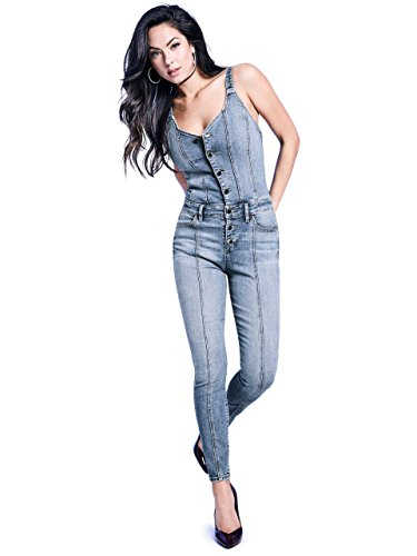 GUESS Women's Sexy Jumpsuit, Medium Wash, S by GUESS