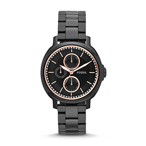 Fossil-Womens-ES3451-Chelsey-Multifunction-Black-Stainless-Steel-Watch
