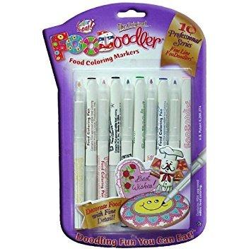 Foodoodler 10 Pc Color Fine Line Marker Set Kosher]()