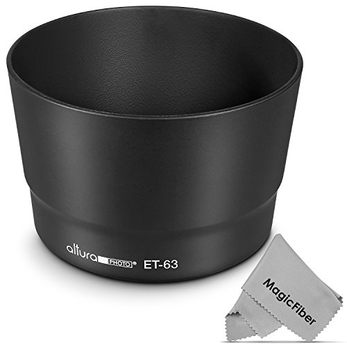 (Canon ET-63 Replacement) Altura Photo Lens Hood for Canon EF-S 55-250mm f/4-5.6 IS STM - Lense Shade