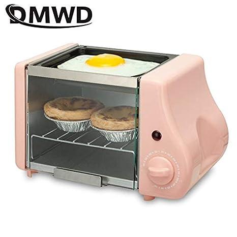 MENGQIZHUANGDAI 2 en 1 Mini eléctrico for Hornear Panadería asado ...