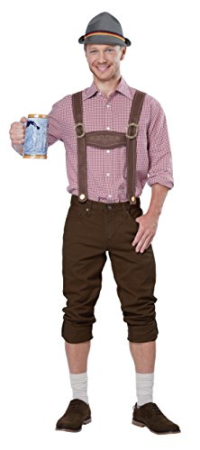 California Costumes Men's Lederhosen Kit, Brown, One -