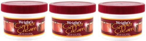 Wright's Copper Cream By Weiman 8 Oz (Pack of 3) by Weiman