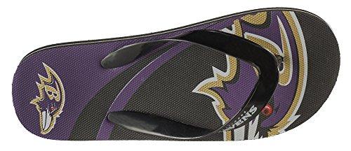 Forever Collectibles Nfl Flip - Flop Grand Logo Unisexe - Choix De Léquipe Corbeaux De Baltimore