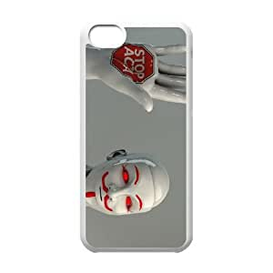 iPhone 5c Cell Phone Case White Anonymous sculpture red eyes masks Guy Fawkes 3D GY9136724