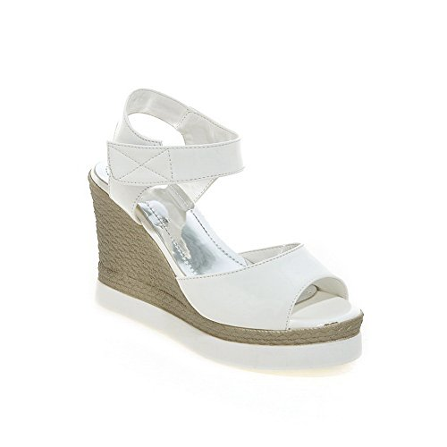 BalaMasa Womens Solid Fashion Oversized Urethane Platforms Sandals ASL05224 White CJljt
