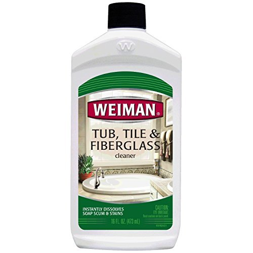Weiman Tub Tile and Fiberglass Cleaner,  16 fl oz, 2 pack
