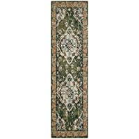 Safavieh Monaco Collection MNC243F Vintage Oriental Forest Green and Light Blue Distressed Runner (22 x 8)