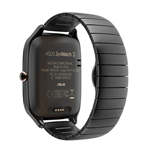 ASUS ZenWatch 2 Gunmetal Gray 41mm Smart Watch with HyperCharge Battery, 1.63-inch AMOLED Gorilla Glass 3 TouchScreen, 4GB Storage, IP67 Water Resistant (International Version) by Asus (Image #4)