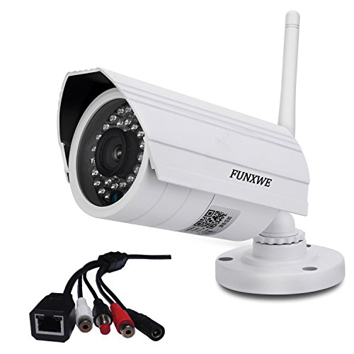 Funxwe WiFi 720P IP Camera Wireless Ethernet Audio Video Security Surveillance Waterproof Outdoor Night Vision Support TF SD Memory Card