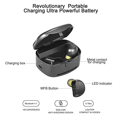 Soundmoov 316T Mini Wireless Earbuds with Charging Box - Black by Soundmoov (Image #4)