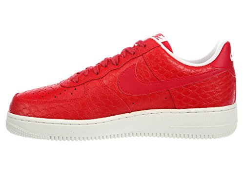 - NIKE Men's Air Force 1 LV8 Action Red/Summit White/Action Red Leather Basketball Shoes 14 M US