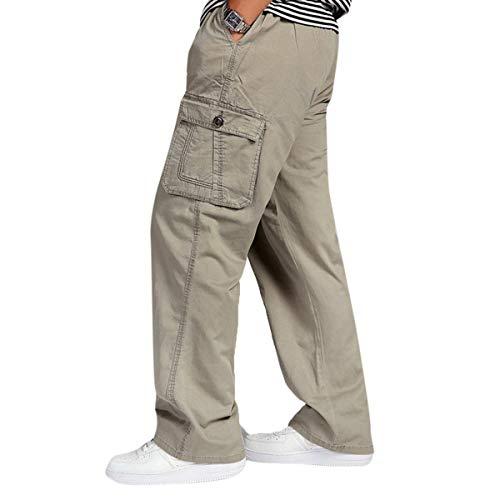 Sportivi Unita Larghi Comodo Outdoor Tinta Jogging Cargo Battercake Multi Allenamento Da tasca Con Pantaloni Uomo Braun 4qxxwnPf