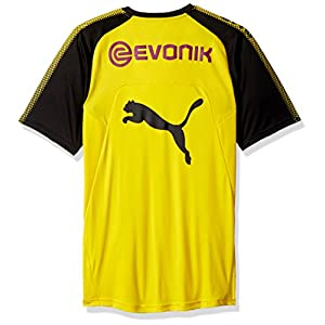 PUMA Men's BVB Training Jersey With Sponsor Logo, Cyber Yellow Black, X-Large