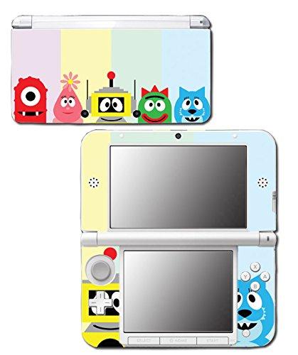 (Yo Gabba Gabba! DJ Lance Rock Muno Foofa Brobee Video Game Vinyl Decal Skin Sticker Cover for Original Nintendo 3DS XL System)
