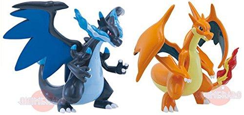Official Pokemon Charizard & Mega Charizard 4 Exclusive Action Figure Set of 2