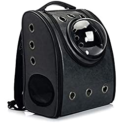 shine-hearty Pet Carrier Backpack Space Cat Dog Carrier Capsule Bags with Zipper Breathable Carrier Bag Cat and Dog Outdoor Product MPA20,Gold,L