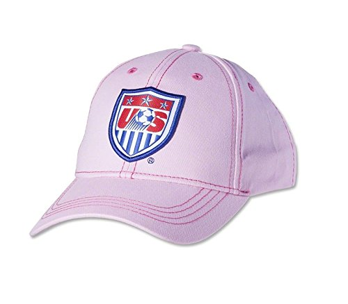 USA Women's Cap Adjustable Hat Official Football Soccer Merchandise Pink (PINK)