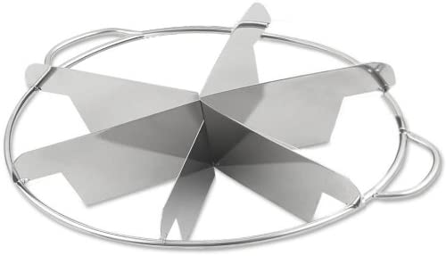 Browne Foodservice 856 Stainless Steel Pie Cutter 6-Cut 9-Inch