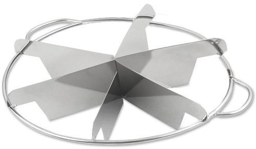 Browne Foodservice 856 Stainless Steel Pie Cutter, 6-Cut, 9-Inch ()