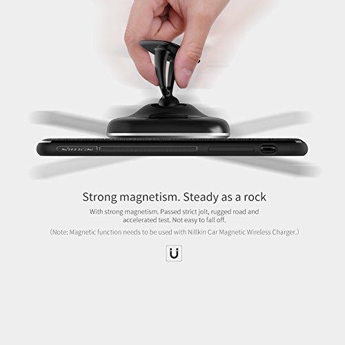 iPhone X Hülle, Nillkin Magic Case Series Silikon Flexible Soft TPU Schutzhülle Back Cover Compatible with Magnetic Wireless Car Charger [Kompatibel mit Nillkin Magnetische Kfz-Ladegerät] für iPhone X