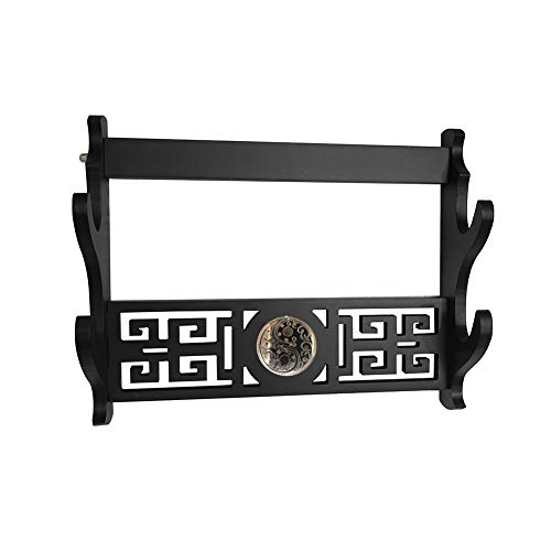 SLFD Sword Holder Wall Mount Samurai Sword Display Holder Stand Bracket Hanger 2-Tier ()