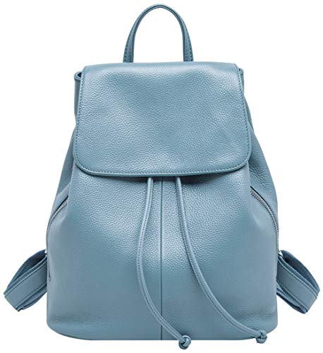 Bag Ladies Elegant BOYATU for Genuine Elegant Women Backpack Shoulder Leather Blue School Travel YAvqSvpTn