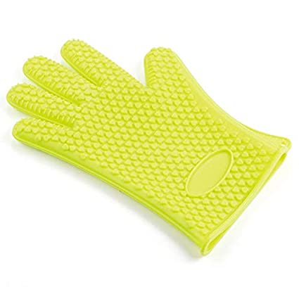 Generic Pj600Ge2: 1Pair Silicone Heat Resistant Gloves Multifunction Oven Mitts BBQ Glove Kitchen Potholders Cooking Glove Thic