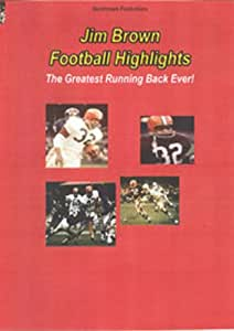 Jim Brown Football Highlights-The Greates Running Back Ever on DVD