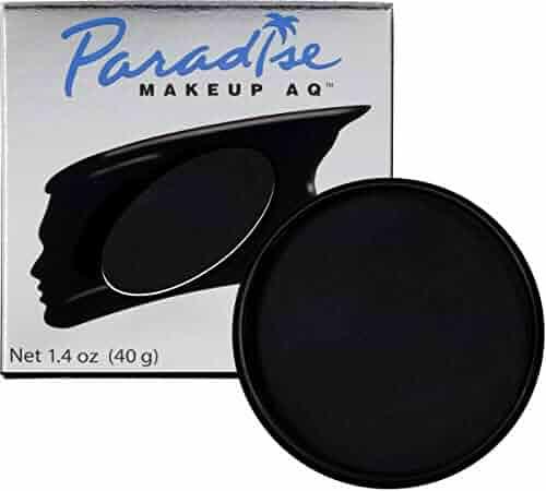 Mehron Makeup Paradise Makeup AQ Face & Body Paint (1.4 oz) (Black)