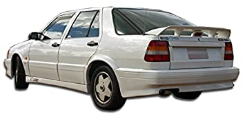 Duraflex 1988-1991 Saab 9000 4DR Turbo Look Rear Bumper Cover - 1 Piece (